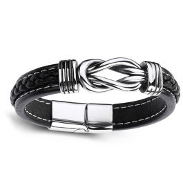 Jeulia Infinity Design Men's Bracelet in Titanium Steel(200mm)