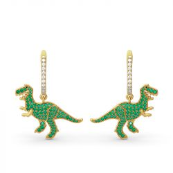 Jeulia Prehistoric Glamour Dinosaur Sterling Silver Earrings