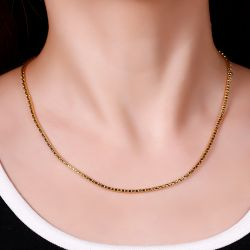 Jeulia Simple Sterling Silver Box Chain Necklace