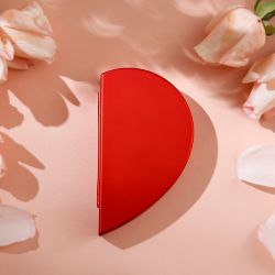 Jeulia Heart Shape Rose Flower Ring Box
