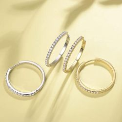 Jeulia Hoop Earrings in Silver Sterling