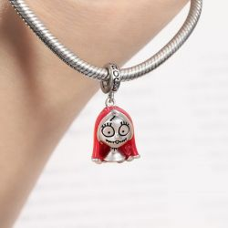 Red Hair Girl Charm Bead 925 Sterling Silver