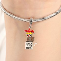 Jack in the Box Charm Pendant 925 Sterling Silver