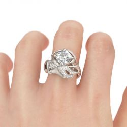 Jeulia Elegant Cushion Cut Mermaid Ring