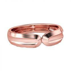 Jeulia Rose Gold Tone Sterling Silver Men's Band