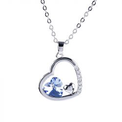Jeulia  Romantic Heart Necklace