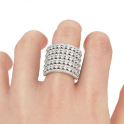 Jeulia Bold Sterling Silver Cocktail Ring