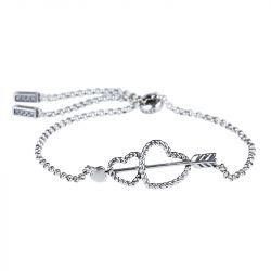 Jeulia Arrow and Heart Bolo Bracelet