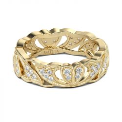 Jeulia Claddagh Heart Sterling Silver Women's Band