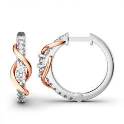 Jeulia Never Apart Hoop Earrings