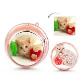 """""""Cat Playing Yarn Ball""""  Photo Charm Sterling Silver"""