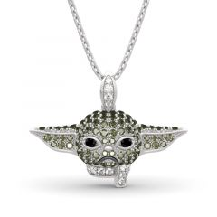 """Jeulia """"Baby Master"""" Sterling Silver Necklace"""