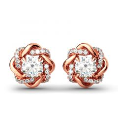 Jeulia Knot of Love Stud Earrings